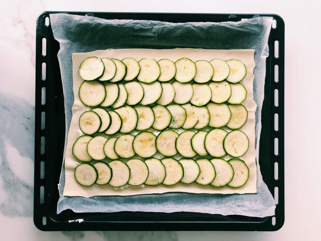 hojaldre receta saludable gastronomia calabacin