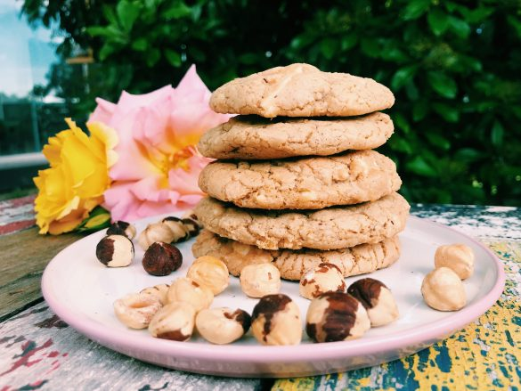 Cookies de avellanas & chocolate blanco (sin gluten)