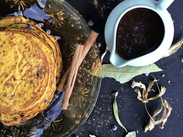 Pancakes de calabaza con sabor a otoño